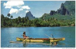 Carte Postale Tahiti  Pêche Au Harpon Trés  Beau Plan - Tahiti