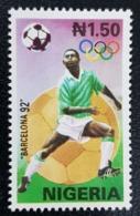 NIGERIA 1992 - OLYMPIC GAMES SOCCER FOOTBALL BARCELONE BARCELONA SPAIN - RARE MNH - Nigeria (1961-...)