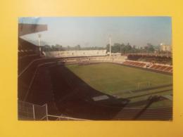 CARTOLINA POSTCARD MALESIA MALAYSIA 1983 KUALA LAMPUR STADIUM  BOLLO ANIMALS FLOWERS PAR AVION OBLITERE SELANGOR ANNULLO - Malesia