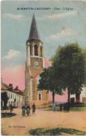 D18 - ST MARTIN D'AUXIGNY - L'EGLISE - Plusieurs Personnes Devant L'église - Carte Colorisée - Frankreich