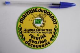 """Autocollant Stickers - MAITRISE Du VOLANT """"SIMCA RACING TEAM"""" Avec La Prévention Routière - Stickers"""