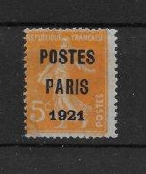 Préoblitéré N° 27 ** TTBE - Fausse Surcharge - 1893-1947