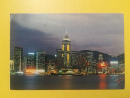 CARTOLINA POSTCARD HONG KONG 1998 VICTORIA HARBOUR  BOLLO CHINESE NEW YEAR NUOVO ANNO CINESE OBLITERE PAR AVION ANNULLO - Cina (Hong Kong)