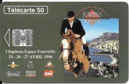 CARTE-PUBLIC-MONACO-50U-MF38-SC7-03/96-JUMPING INTERNATIONAL-V°N° Etroit C63058309-UTILISE-TBE - Monaco