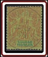 Soudan Français 1894-1900 - Dioubeba / Soudan Français Sur N° 9 (YT) N° 9 (AM). Oblitération De 1899. - Sudan (1894-1902)
