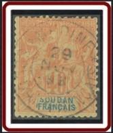 Soudan Français 1894-1900 - Medine / Soudan Français Sur N° 12 (YT) N° 12 (AM). Oblitération De 1898. - Sudan (1894-1902)