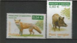 ANDORRE 2008 N° 649 650 2 TP NEUFS** - Andorra Francese