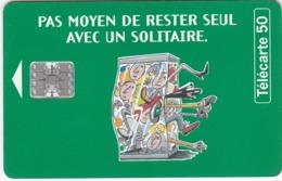 TC159 TÉLÉCARTE 50 UNITÉS - LA FRANÇAISE DES JEUX - SOLITAIRE - Jeux