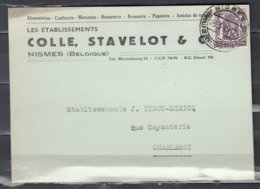 Postkaart Van Nismes Naar Charleroi - 1935-1949 Sellos Pequeños Del Estado