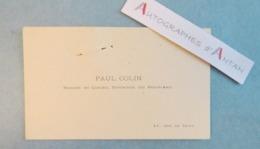 CDV Paul COLIN Peintre Né à Nimes En 1838 - Conseil Supérieur Des Beaux-Arts - Carte De Viste - Cartes De Visite