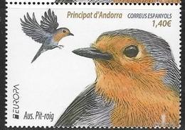 SPANISH ANDORRA, 2019, MNH, BIRDS, EUROPA 2019,  1v - 2019