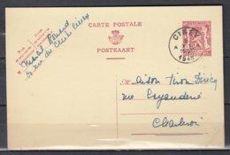 Postkaart Van Ciney A Naar Charleroi - 1935-1949 Petit Sceau De L'Etat