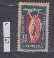 LITUANIA  1921Inaugurazione Posta Aerea, 40 Sk Usato - Lituania