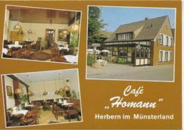 "AK 0331  Herbern Im Münsterland - Cafe "" Homann "" Ca. Um 1960 - Hotels & Gaststätten"