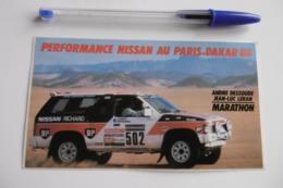 Autocollant Stickers - Automobile NISSAN Rallye PARIS DAKAR 88 - Autocollants