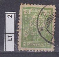 LITUANIA  1923Posta Ordinaria, 5 C Usato - Lituania