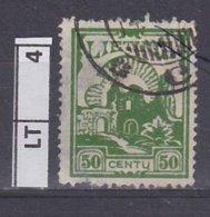 LITUANIA   1923Posta Ordinaria, 50 C Usato - Lituania