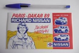 Autocollant Stickers - Automobile NISSAN Rallye PARIS DAKAR 89 Avec Jacques LAFITTE Pilotte De Course - Autocollants
