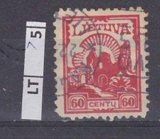 LITUANIA   1923Posta Ordinaria, 60 C Usato - Lituania