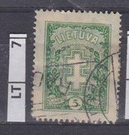 LITUANIA  1926Croce Assistenza, 5 C Usato - Lituania