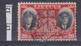 LITUANIA  1934Pionieri Aviazione 20 C Usato - Lituania