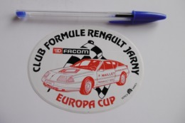 "Autocollant Stickers - Automobile CLUB FORMULE RENAULT JARNY ""EUROPA CUP"" Avec FACOM - Autocollants"
