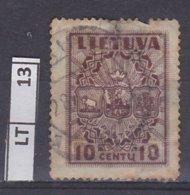LITUANIA  1934Posta Ordinaria 10 C Usato - Lituania