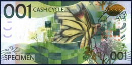 KBA GIORI SPECIMEN TEST NOTE CASH CYCLE INSECT BUTTERFLY UNC - Banknoten