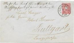DR Brief GA U12 A Krone/Adler Cöln Deutz Nach Stuttgart 1889 - Cartas