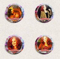 105 X Bonnie Raitt Music Fan ART BADGE BUTTON PIN SET 1-3 (1inch/25mm Diameter) - Music