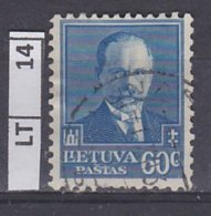 LITUANIA  1934Antanas Smetona, 60 C Usato - Lituania