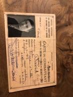 303/ OFFICE NATIONAL DES ANCIENS COMBATTANTS ET VICTIMES DE LA GUERRE CARTE D ANCIEN COMBATTANT JULES DAVID 1951 - Other