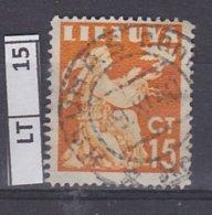 LITUANIA  1940Pace, 15 C Usato - Lituania