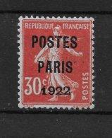 Préoblitéré N° 32 Signé Calves Authentique Mais Regommé Après Signature - Cote Y&T 2020 De 200 € - 1893-1947