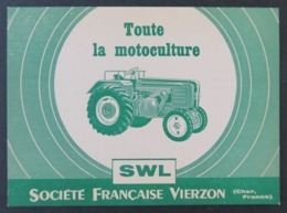 Carte Postale Société Française Vierzon SWL Tracteur Tractor Traktor Bernard Mayer Cher - Tracteurs