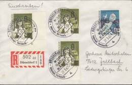 BERLIN 3x 194, 196 MiF Auf R-Brief, Mit Sonderstempel: Düsseldorf Mode Macht Märkte 27.3.1962 - Lettres & Documents