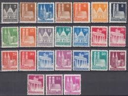 BiZone 73-96 Wg, Postfrisch **, Bauten, 1948/52 - Zone Anglo-Américaine