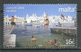 Malte YT N°1291 Europa 2004 Les Vacances Oblitéré ° - 2004