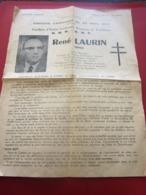 HYÈRES RENÉ LAURIN DÉPUTÉ ELECTIONS CANTONALES 24 MARS 1963 CANDIDAT ACTION CANTONALE ,PAYSANNE & TOURISTIQUE-U.N.R-UDT - Documents Historiques
