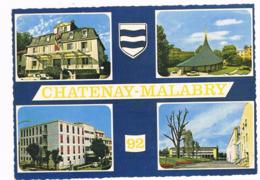 CHATENAY - MALABRY  92  Multivues Avec 4 Photos Et Blason - Francia