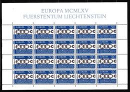 1965 Liechtenstein EUROPA CEPT EUROPE 20 Serie MNH** In Minifoglio Minisheet - Europa-CEPT