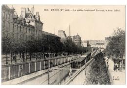 CPA 75 PARIS 15e Le Métro Boulevard Pasteur Métropolitain Tour Eiffel Ed. F. F. Paris N° 1620 Rame De Métro - District 15