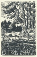 Ex Libris Jozef J. Creten - Antonin Dolezal - Ex-libris