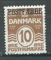 Danemark YT N°196 Lignes Ondulées Surchargé POSTFAERGE Oblitéré ° - 1913-47 (Christian X)