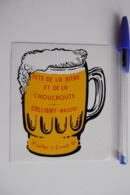 Autocollant Stickers - Fête De La Bière Et De La Choucroute à COLLIGNY -MAIZERY 57 MOSELLE - Autocollants