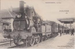 Bv - Cpa Bonjour De VAUCOULEURS (Meuse) - La Gare (locomotive En Gros Plan) - Frankreich