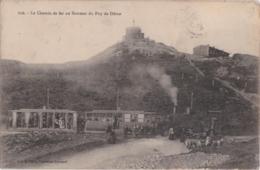 Bv - Cpa Le Chemin De Fer Au Sommet Du Puy De Dôme - France