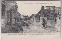 Bv - Cpa ABLAIN St NAZAIRE ( Pas De Calais) - La Rue De Souchez Après La Bataille - France