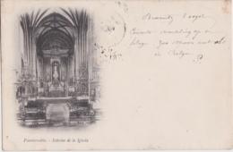 Bv - Cpa Fuenterrabia - Interior De La Iglesia (écrite En 1899, Cachets Biarritz Et Gand) - España
