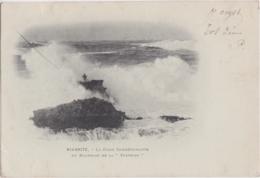 """Bv - Cpa BIARRITZ - La Croix Commémorative Du Naufrage De La """"Surprise"""" (écrite En 1899, Cachets Biarritz Et Gand) - Biarritz"""